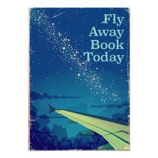 Foto Da mosca do livro poster ausente do vôo do vintage