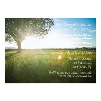Foto da paisagem da árvore - anúncio do casamento convite 12.7 x 17.78cm