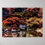 Foto da paisagem do outono da queda do parque