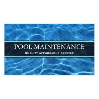 Foto da piscina - cartão de visita