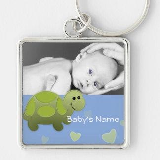 Foto da tartaruga do bebê chaveiros
