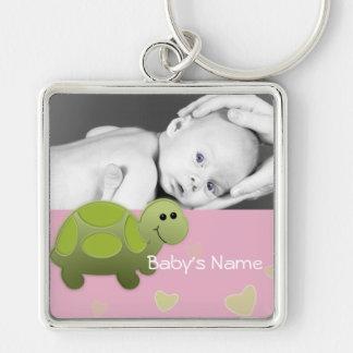 Foto da tartaruga do bebê chaveiro