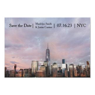 Foto da torre da liberdade de NYC - 3x5 salvar a Convite 8.89 X 12.7cm