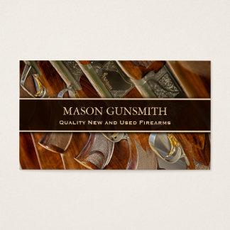 Foto das armas - Gunsmith - cartão de visita