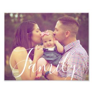 Foto de família 8x10 com opção editável do texto