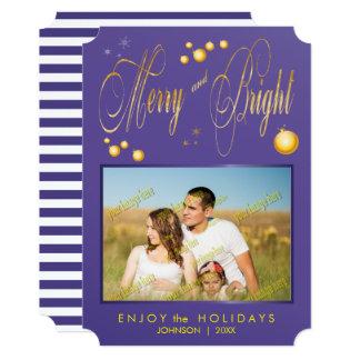 Foto de família alegre e brilhante do brilho do convite 12.7 x 17.78cm