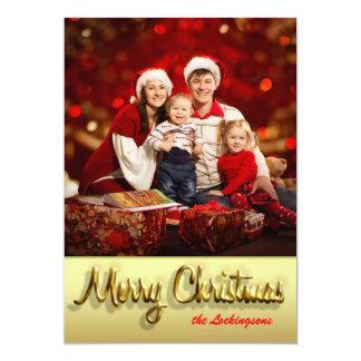 Foto de família customizável do cartão de Natal