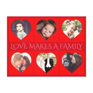Foto de família dada forma coração personalizada