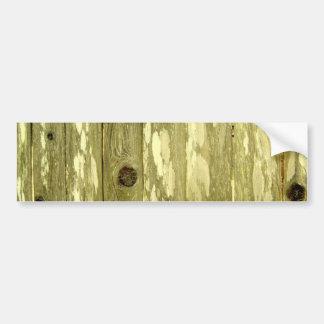 Foto de madeira amarela da textura da cerca adesivo para carro