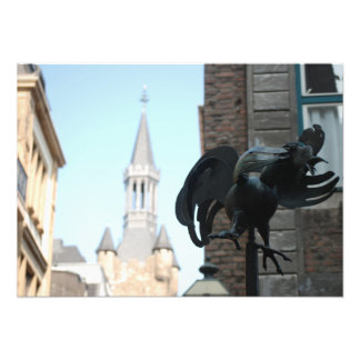 Foto de uma estátua da galinha