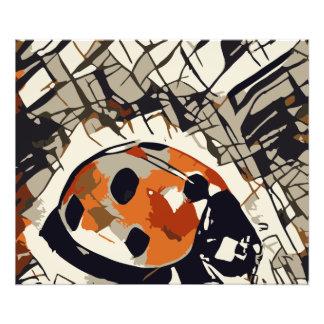 Foto Desenho estilizado de um joaninha vermelho