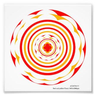 Foto Design_ack floral vermelho e amarelo