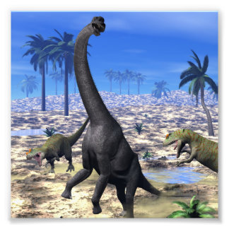 Foto Dinossauro de ataque do brachiosaurus do