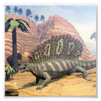 Foto Dinossauro do Edaphosaurus - 3D rendem