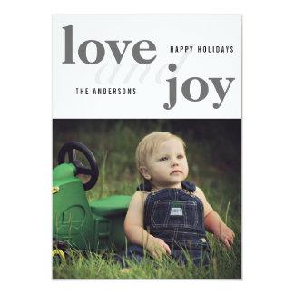 Foto do amor e da alegria | boas festas | convite 12.7 x 17.78cm