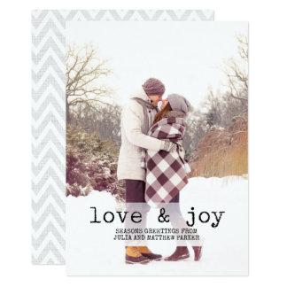 Foto do amor e da alegria | do texto da máquina de convite 12.7 x 17.78cm