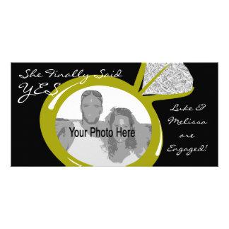 Foto do anel de noivado cartões com foto