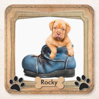 Foto do animal de estimação da família de DIY Porta-copo De Papel Quadrado