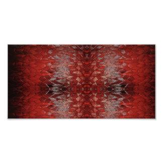 """Foto Do """"arte abstracta do vermelho rubi"""""""