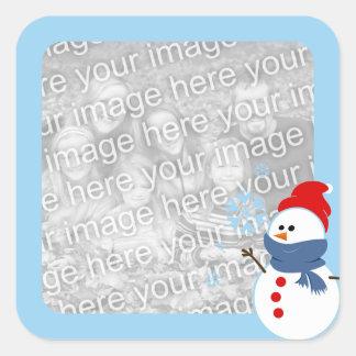 Foto do boneco de neve adesivo em forma quadrada