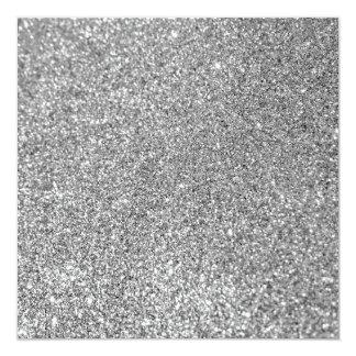 Foto do brilho da prata do falso convite quadrado 13.35 x 13.35cm