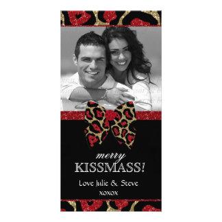 Foto do brilho do leopardo do feriado do ano novo  cartões com foto personalizados
