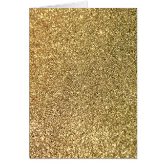 Foto do brilho do ouro do falso cartão comemorativo