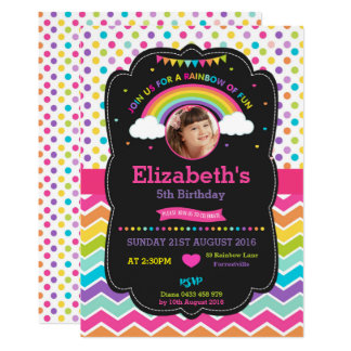 Foto do cartão do convite de aniversário do