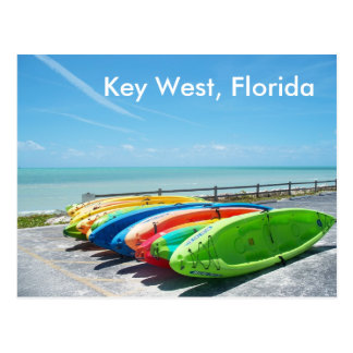 Foto do cartão do oceano da praia de Key West