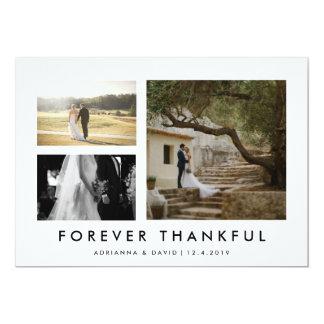 Foto do casal que Wedding para sempre Minmalist Convite 12.7 X 17.78cm