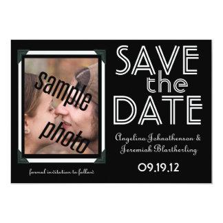 Foto do casal - salvar o anúncio da data convite 12.7 x 17.78cm