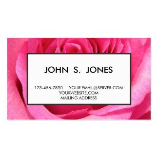 Foto do casamento do rosa do rosa cartão de visita