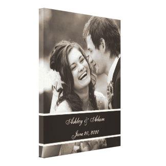 Foto do casamento do Sepia personalizada Impressão Em Tela