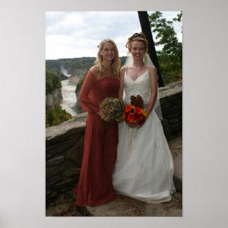 Foto do casamento pôster