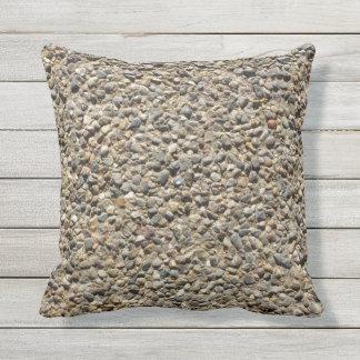Foto do cascalho & da areia em Pilllow Almofada Para Ambientes Externos