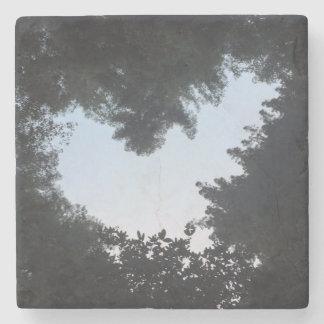 Foto do coração porta-copos de pedra