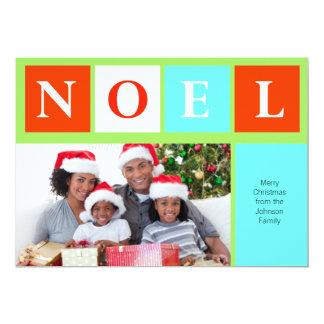 Foto do costume de Noel Colorblock do Natal Convite 12.7 X 17.78cm