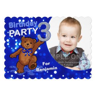 Foto do costume do partido do urso de ursinho do a convites personalizados