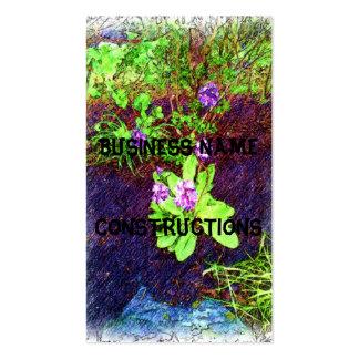 Foto do desenho da flor cartão de visita