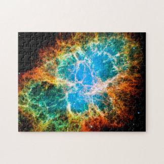 Foto do espaço de Hubble do resto do Supernova da Quebra-cabeça