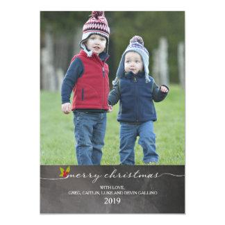 Foto do Feliz Natal |Holiday do quadro Convite 12.7 X 17.78cm