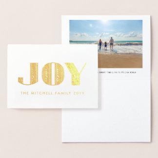 Foto do feriado da tipografia do art deco da cartão metalizado