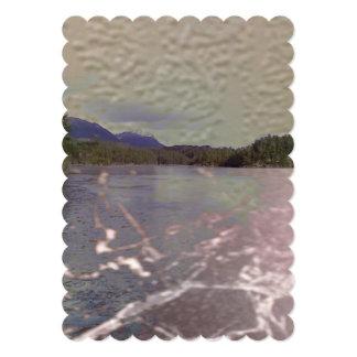 Foto do lago com textura convites personalizado