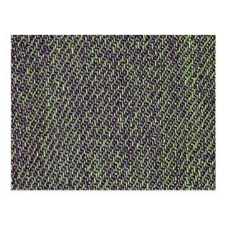 Foto do macro da textura de jeans cartão postal