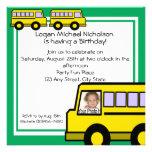 Foto do ônibus de escola convite personalizado