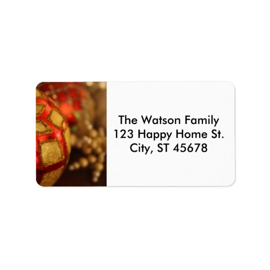 Foto do ornamento do feriado para enviamentos do etiqueta de endereço