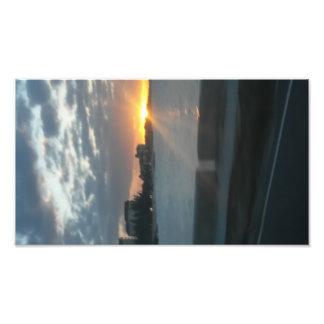 Foto do por do sol