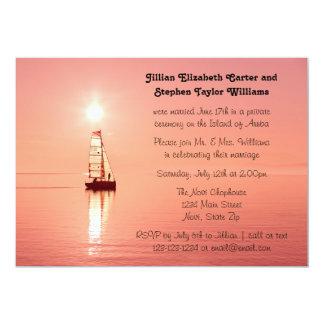 Foto do por do sol do veleiro - anúncio do