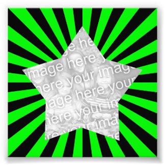 Foto do quadro de Starburst do verde limão e do pr
