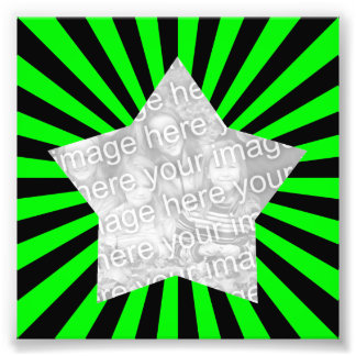 Foto do quadro de Starburst do verde limão e do pr Impressão De Foto
